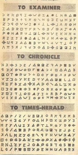 The Zodiac Killer - 408 Cipher Newspaper