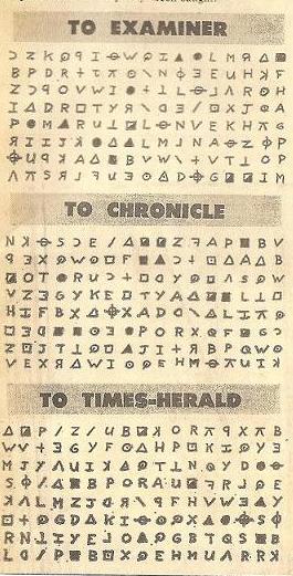 The Zodiac Killer - 408 Cipher Newspaper